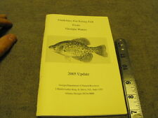 Guidelines For Eating Fish From Georgia Water , 2005 Update , Ga Department of N