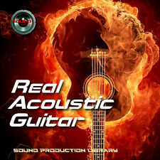ACOUSTIC GUITAR REAL - HUGE Perfect 24bit WAVE Multi-Layer Samples Library on CD