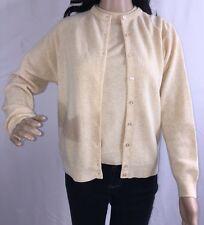 Vintage St. Michael Lambswool Sweater Set Shell And Cardigan Creamy Ivory