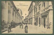 AQUILA. Corso Vittorio Emanuele. Cartolina d'epoca, viaggiata nel 1907.