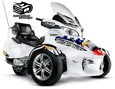 """Can Am Spyder RT RT-S RT Limited wrap decal kit """"The Patriot"""" HOOD/FENDERS"""