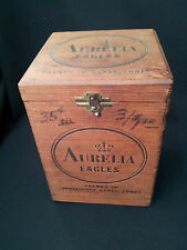 Aurelia Eagles Vintage Cigar Box Wood Vertical