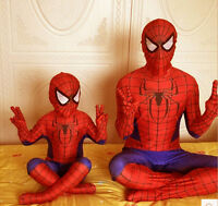 Children Kids Halloween Party Fancy Dress Complete Spiderman Outsuit Costumes