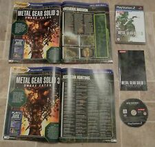 METAL GEAR SOLID 3 SNAKE EATER-PLAYSTATION 2 ps2 + GUIDA COMPLETA ANIMAZIONE