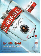 PUBLICITE ADVERTISING 094  2009  SOBIESKI  vodka Polonaise