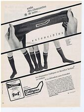 PUBLICITE ADVERTISING 104 1966 COLLEGIEN chaussettes de laine
