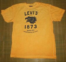 Men's Levi's Tshirt Genuine Eagle Logo Jeans Vintage Style Stone Wash size SMALL