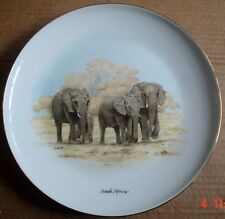 The Constantia Fine China Collectors Plate SOUTH AFRICA Elephant