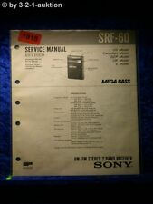 Sony Service Manual SRF 60 2 Band Receiver (#1918)