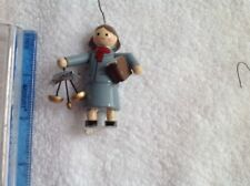 Wooden female lawyer attorney painted Christmas ornament