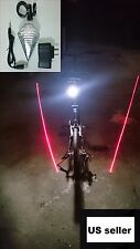 "1xUSB Rechargeable flashlight ""White Led"" Bicycle Bike Red Laser Tail Rear Light"
