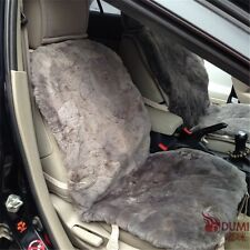 Gray Color 100% Genuine Short Wool Sheepskin Car Seat Covers For Winter