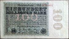 Weimar Germany hyperinflation -100 einhundert millionen mark -year 1923 - Berlin