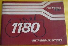 Fiat Trattori Schlepper 1180 Betriebsanleitung