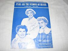 Sheet Music Stars are the Windows of Heaven Andrews Sisters Maxene Patty LaVerne