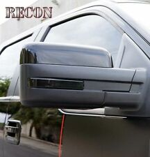 Recon 264240BK Side Mirror Lenses/Reflectors; Smoke, For 09-14 Ford F-150/Raptor