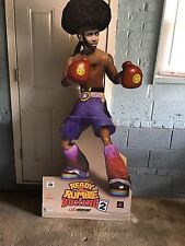 Ready 2 Rumble Boxing Sony PlayStation 2000 Cardboard Display Poster Promo Rare