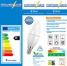 6x Dimmable 4.6w Energy Saving Light Bulbs LED SES E14 Cap Candle 25w/40w s8227