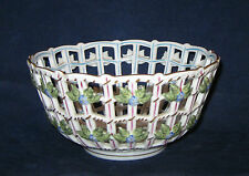 Herend Rothschild Bird Open Weave Basket # 7473 with Older Backstamp