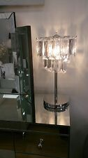 Chandelier Glistening Crystal Clear Acrylic Cascading Cuboids/Jewels Table Lamp