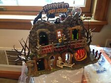 Dept 56 Haunted Fun House Lighted in Box Halloween Snow Village ~ Set of 2