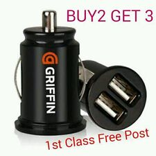 Griffin 3.1a Universal Car Van Mini Dual USB Twin 2 Port 12V Charger Adapter - G