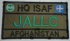ECCUSSON PATCH JALLC  AFGHANISTAN BRAS SCRATCH HQ ISAF JOINT ANLYSIS LEANER
