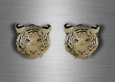 2x Adesivi adesivo sticker moto auto biker casco tuning tigre tiger tribale