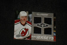 PETER STASTNY 2010-11 UD BLACK DIAMOND CERTIFIED GAME USED JERSEY CARD