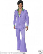 CL211 1970'S Suit Groovy Dancer Mens Fancy Dress 70s Party Retro Costume Disco