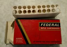 Vintage FEDERAL 270 WINCHESTER CAL EMPTY RIFLE AMMO BOX original paper carrier