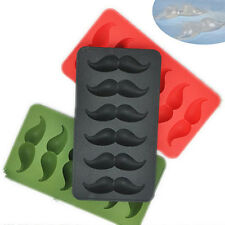 Silicone Mould Moustache Ice Cube Tray Mold Chocolate Muffin Pudding Jelly Molds