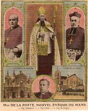 IMAGE 1912 PRINT 72 LE MANS MGR DE LA PORTE NOUVEL EVEQUE PECHENARD GIBIER