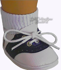 For American Girl Dolls; Navy Blue Saddle Shoes Great for Molly Doll Accessories