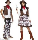 Cowboy Cowgirl Couple Wild West Western Rodeio Fancy Dress Costume Outfit & Hat