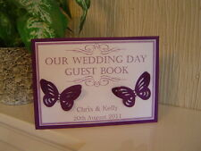 Personalised Wedding Guest Book Card - Butterflies