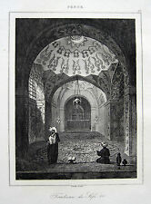 GRABMAL DES SAFI I. QOM GHOM PERSIEN IRAN ORIGINAL 1841 SAFI OF PERSIA PERSE