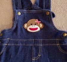 BABY STARTERS 12 MONTH SOCK MONKEY JEAN JUMPER ADORABLE!