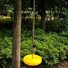 Yellow Round Disc Swing Set Tree Playground F/ Kids W/ Rope Childhood Outdoor
