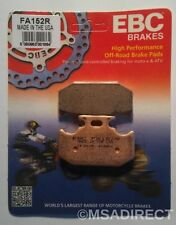 "Yamaha YZ250 (1990 to 1991) EBC ""R"" Sintered REAR Brake Pads (FA152R) 1 Set"