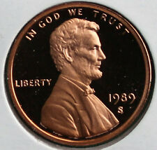 1989 S Lincoln Penny One-Cent Proof U.S. Mint Coin 1c from Proof Set
