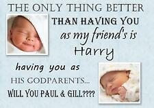 Personalised Christening gift ASK Friends , Family TO BE Godmother , Godfather b