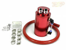 Red Alloy Oil Catch Tank/Can + Red Hose Mazda 2 3 6 323 Turbo MX5 RX7 RX8