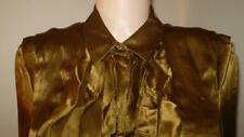 NEW NWOT MAGASCHONI FRILLY SILK SHIRT BLOUSE DRESS SUIT TOP 390.00