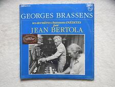 """2 LP GEORGES BRASSENS / JEAN BERTOLA """"Dernières chansons inédites"""" Neuf §"""