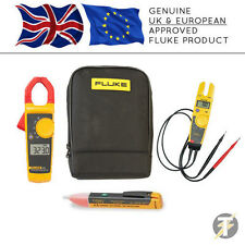 Fluke 323 Digital Clamp Meter + T5-600 Voltage & Continuity + 1AC + C115 Case