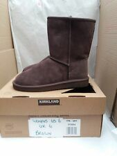 Kirkland Signature Short Shearling Boot - Australian Sheepskin - Chocolate UK 6