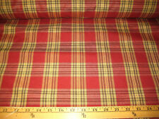 "WINE/GREEN/GOLD PLAID NYLON UPHOLSTERY FABRIC 57"" WIDE BY THE YARD"