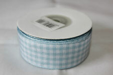 25mm x 10m Fabric Gingham Ribbon With Woven Edge - Various Colours