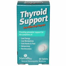 NATRABIO - THYROID SUPPORT - 60 TABLETS - ENERGY SUPPORT - NOW WITH REAL THYROID